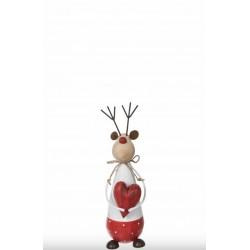 Renne décoratif avec cœur