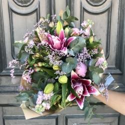 Bouquet champêtre rose