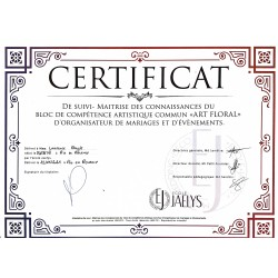 Certificat art floral