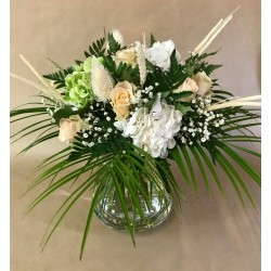 Bouquet rond avec fleurs de...